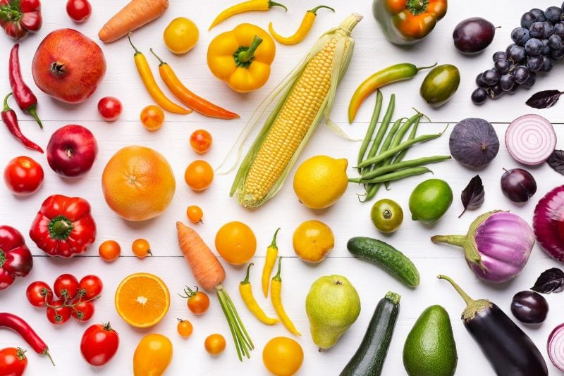 fruits and vegetable vegetable powders whole food food trends clean eating colored fruits and vegetables rainbow colors