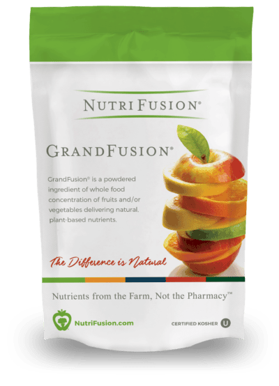 GrandFusion+Fiber 12 vitamins from 12 fruits and vegetables
