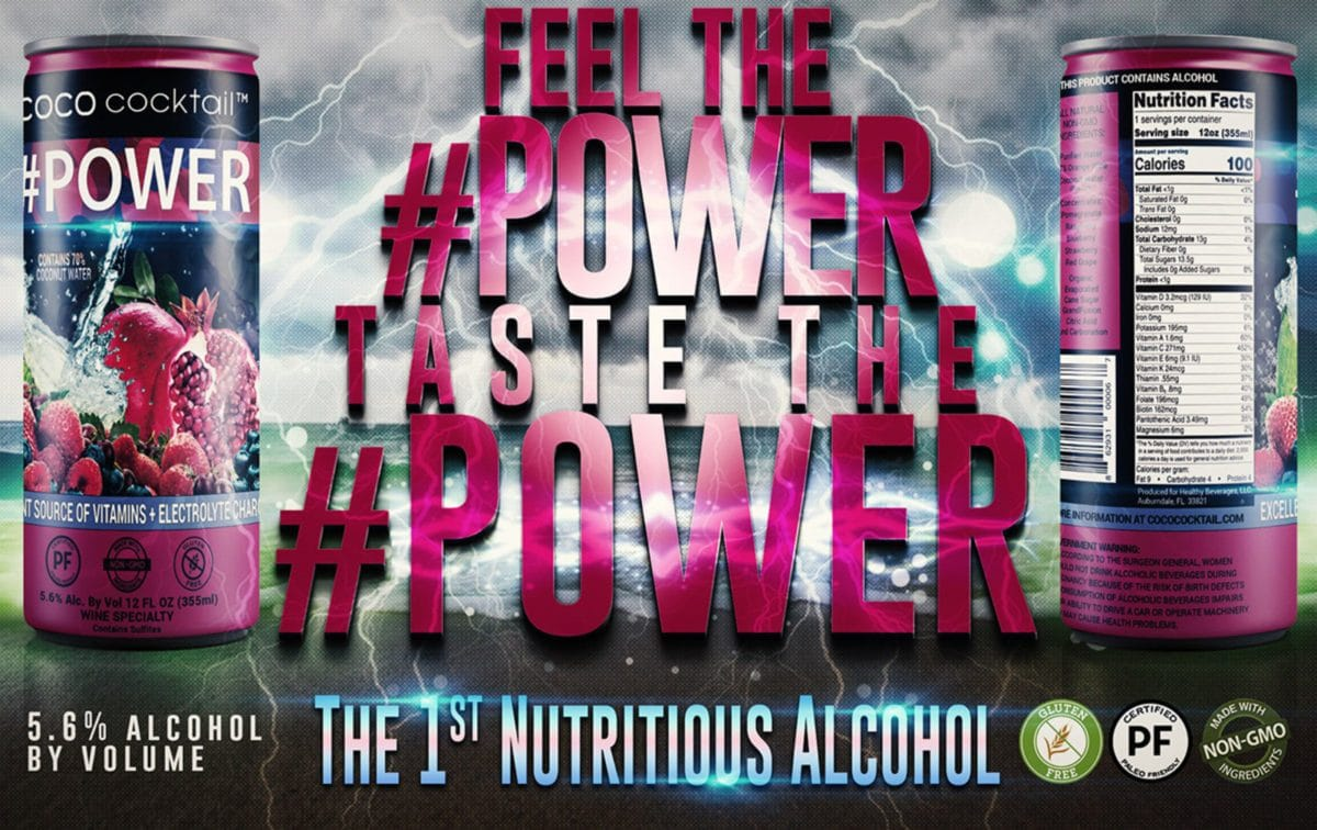 coco cocktail power nutrifusion vitamins alcoholic beverage