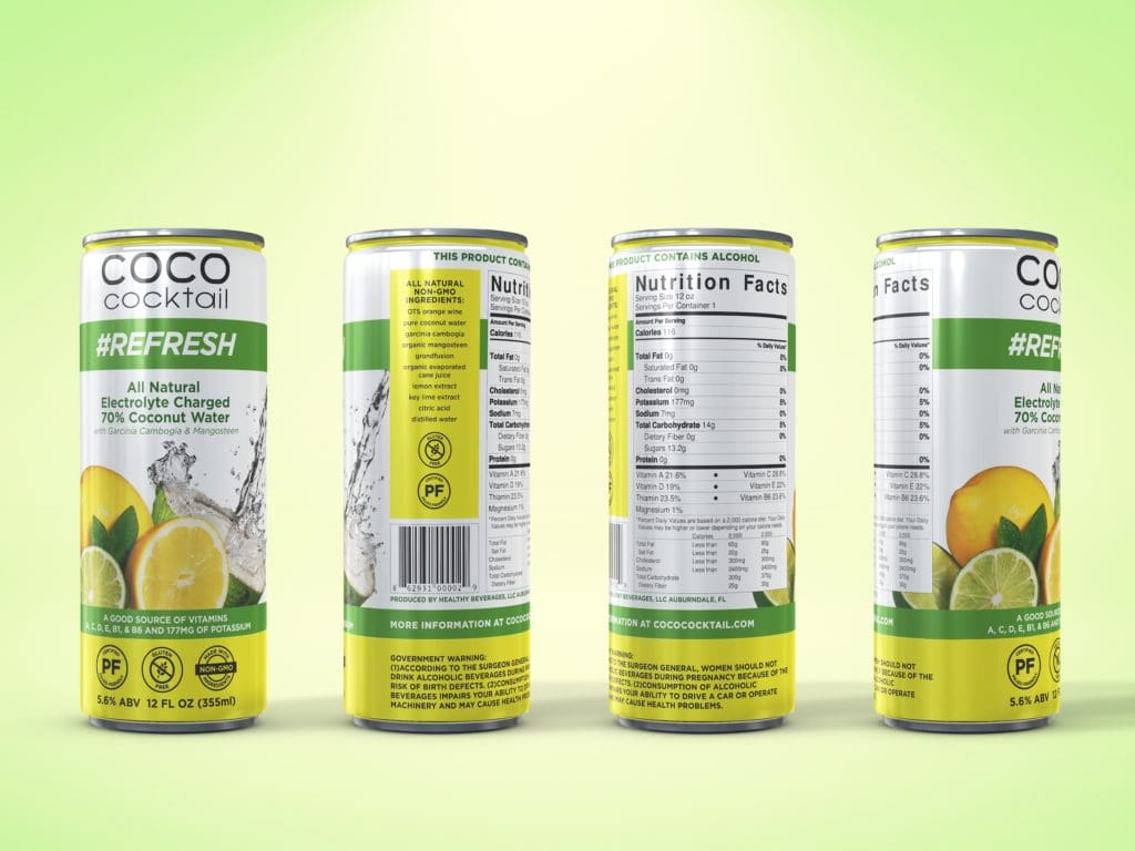 coco cocktail nutrifusion refresh alcoholic beverage