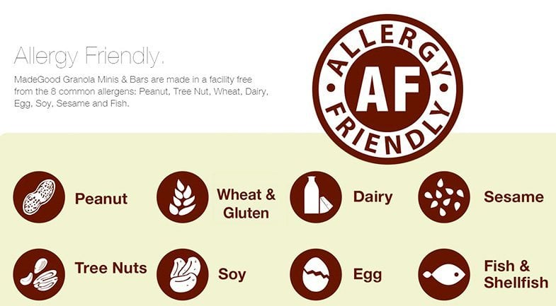 allergy free allergen free soy dairy peanut made good nutrifusion school safe foods