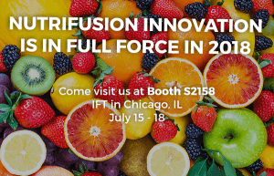 IFT 2018 NutriFusion Innovation Fruit & Vegetable powders blends nutrients vitamins minerals plant-based